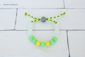1 Wave Designs custom adjustable silicone bead bracelet