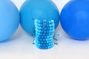 ombre adjustable silicone bead bracelet party pack