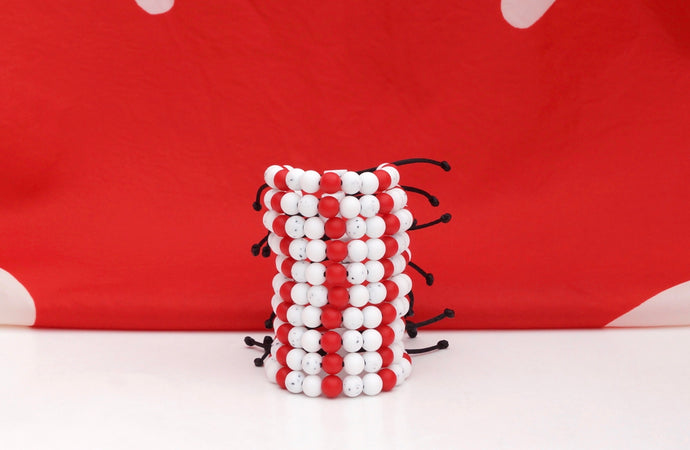 O' Canada adjustable silicone bead bracelets party pack