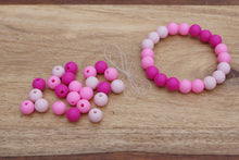 Load image into Gallery viewer, pink ombre silicone bead bracelet kit