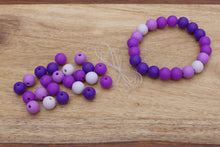 Load image into Gallery viewer, purple ombre silicone bead bracelet kit