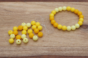 yellow ombre silicone bead bracelet kit