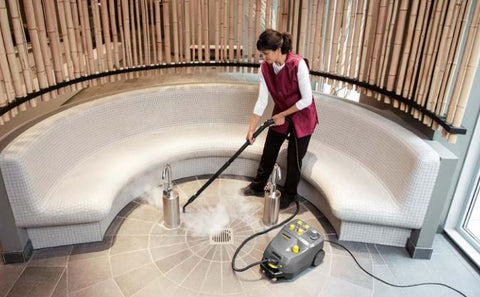 Karcher SG 4/4 Steamer with Cart in use