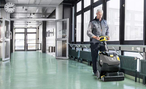 Karcher BR 45/22 Auto Scrubber in use