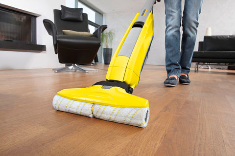 Karcher FC 5 Hard Floor Cleaner in use