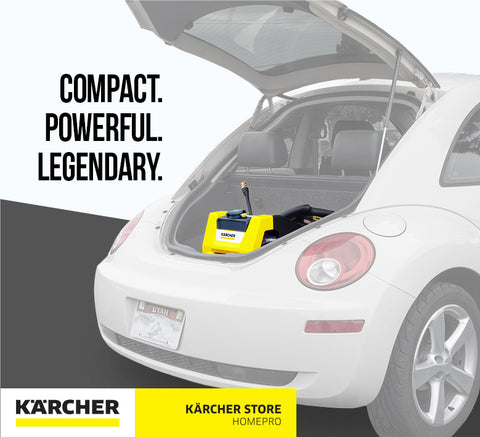 Karcher K1700 Cube Electric Pressure Washer promo image, easily transported!