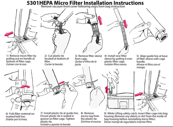 HEPA Filter change inforgraphic