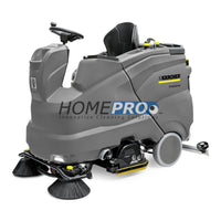 Karcher B 150 R Bp With 75 Scrub Deck 36V/30 Ride-On Auto Scrubber 360 Ah Batteries Machines