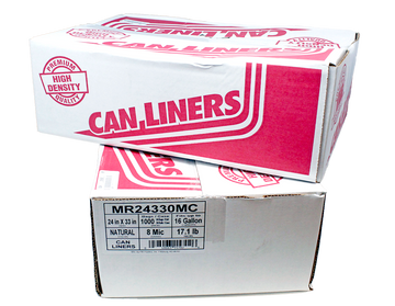 PIT MR 24330 MC 24x33 10-15gal Natural Can Liners