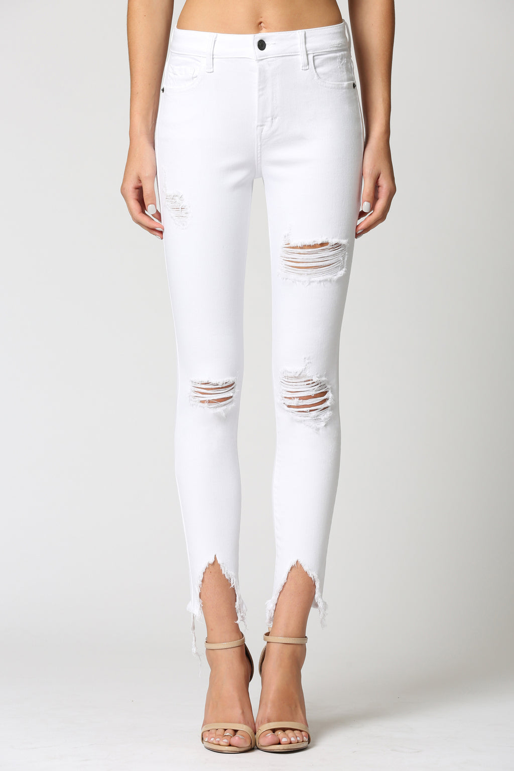 Distressed Frayed Skinny