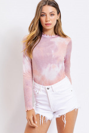 Tie Dye Long Sleeves Bodysuit