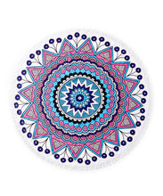 Load image into Gallery viewer, Medallion Round Fringe Beach Towel