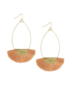 Teardrop Fringe Hoop Earrings