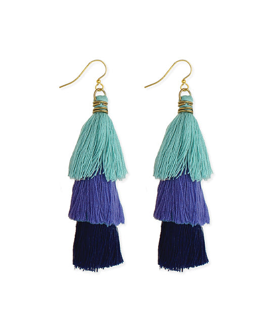 Tiered Fringe Drop Earrings