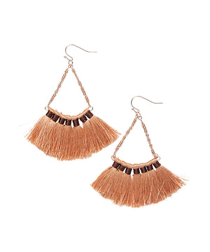 Beaded Tassel Drop Earrings