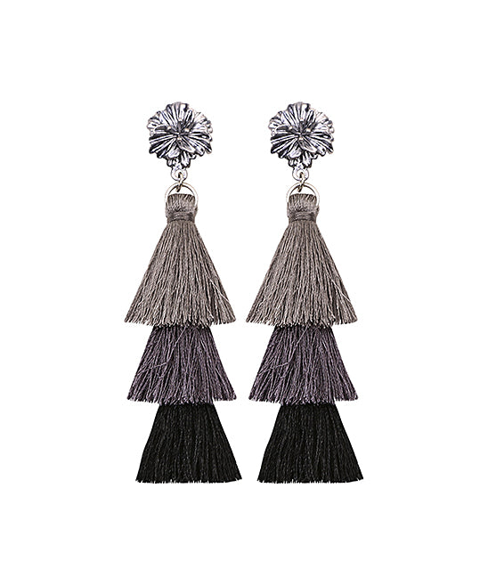 Ombré Tassel Drop Earrings