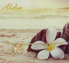 Load image into Gallery viewer, Hawaiian Dream Plumeria Charm Anklet