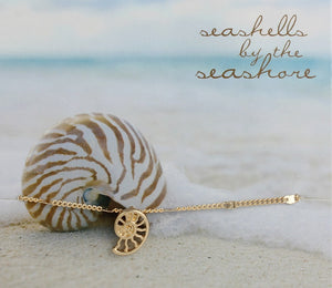 Beach Treasure Seashell Charm Anklet