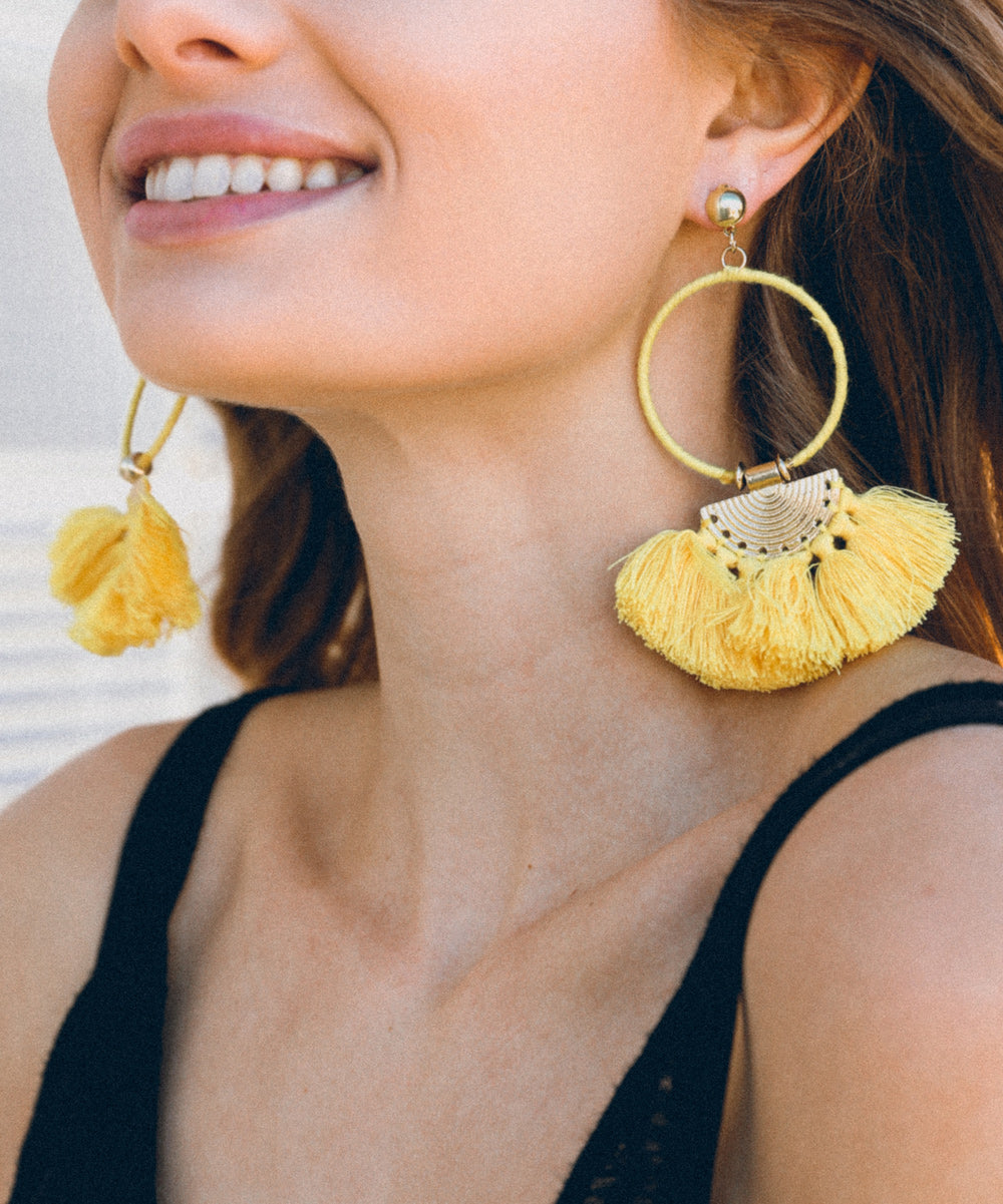 Tassel Fan Drop Earrings