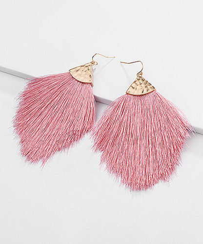 Tassel & Goldtone Drop Earrings