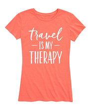 Load image into Gallery viewer, 'Travel Is My Therapy' Relaxed-Fit Tee