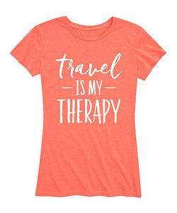 'Travel Is My Therapy' Relaxed-Fit Tee