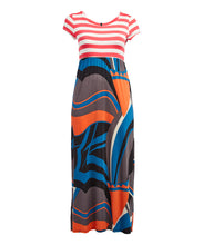 Load image into Gallery viewer, Stripe Abstract Maxi Dress (Plus Size)