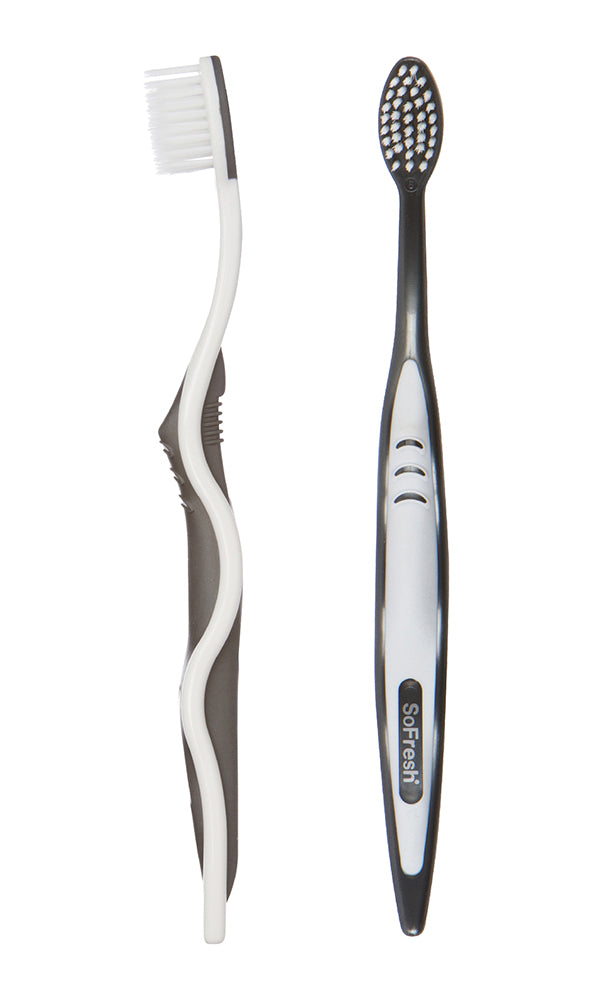 Flossing Toothbrush with Antibacterial Bristles