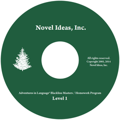 1001.1- 1 CD Adventures in Language Level I (2014 Edition) - Blackline/Homework Masters