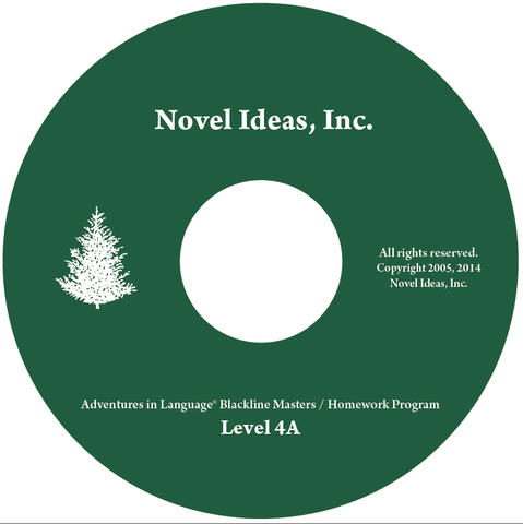 1019.1- 4A CD Adventures in Language Level IVA (2014 Edition) - Blackline/Homework Masters