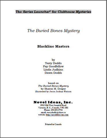 3022.03-BLMZBD-Clubhouse Mysteries: The Buried Bones Mystery (by Sharon M. Draper) Blackline Masters* (2014 Edition)
