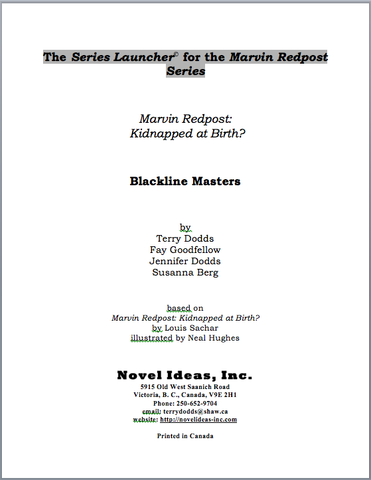 3006.03-BLMMR Marvin Redpost: Kidnapped at Birth? (by Louis Sachar) Blackline Masters* (2015 Edition)
