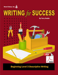 9003-1 WFSB3D Writing for Success: Beginning Level 3--Descriptive Writing (Downloadable)