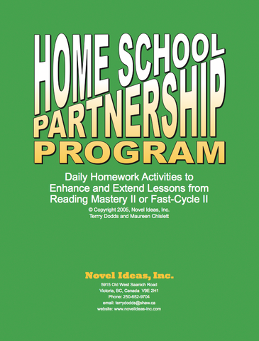 5001.01-4HSPP Home School Partnership Program Black Line Masters Packet