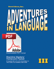 1013.2 Adventures in Language Level III (2014 Edition) - Blackline/Homework Masters Packet Downloadable PDF