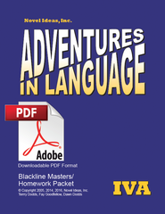 1019.2- Adventures in Language Level IVA (2014 Edition) - Blackline/Homework Masters Packet Downloadable PDF