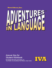 1024-4A AK Adventures in Language Level IVA (2014 Edition) - Answer Key Workbook*