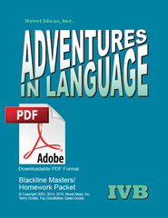 1025.2 Adventures in Language Level IVB (2014 Edition) - Blackline/Homework Masters Packet Downloadable PDF