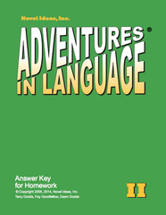1012-2AK Adventures in Language Level II (2014 Edition) - Answer Key Workbook*