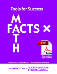 7001.041-TFSTGSMM Tools for Success: A Math Facts Program - Multiplication (Teacher Guide and Student Materials