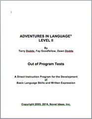 1009-2OPT Adventures in Language Level II (2014 Edition) - Out of Program Test Blackline Masters