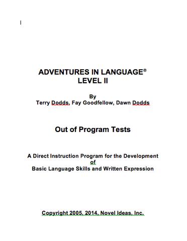 1007.1- 2 CD Adventures in Language Level II (2014 Edition) - Black Line/Homework Masters
