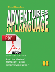 1007.2 Adventures in Language Level II (2014 Edition) - Blackline/Homework Masters Packet Downloadable PDF