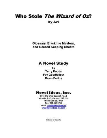 2036.03-BLMWSW Who Stole the Wizard of Oz? (by Avi) Blackline Masters* (2017 Edition)