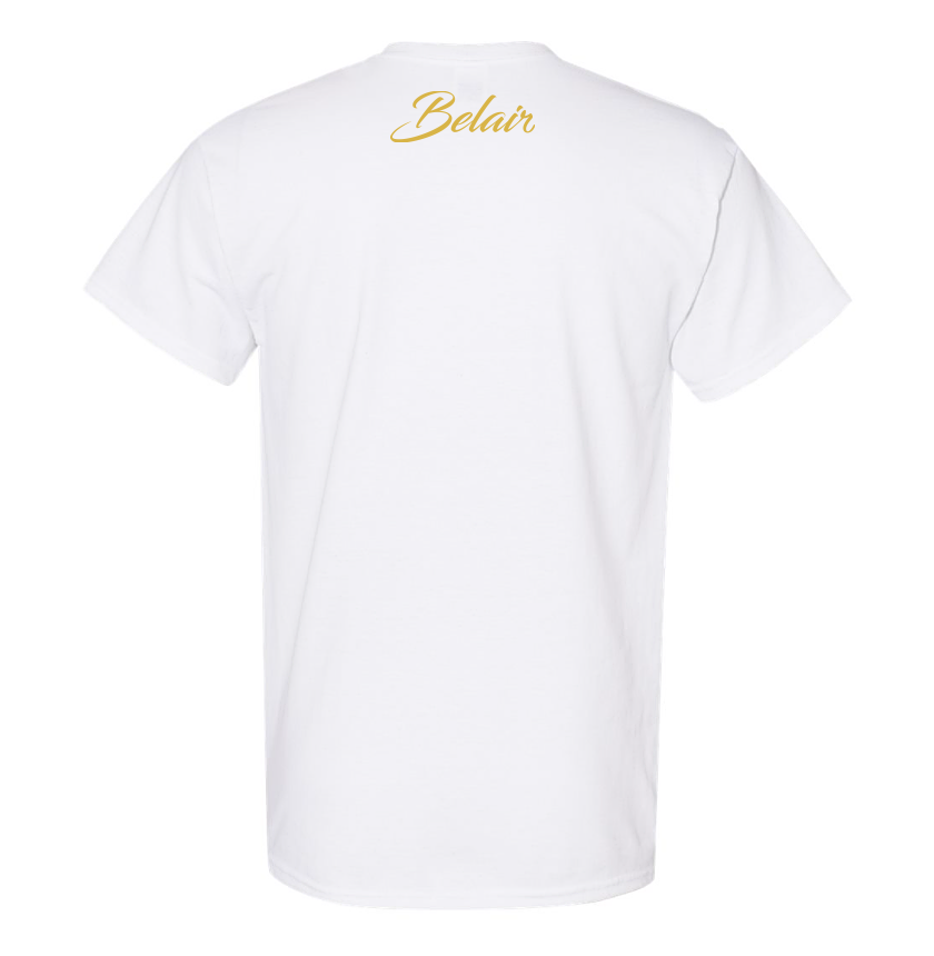 Belair White Color Flame Design Unisex Cotton T-Shirt