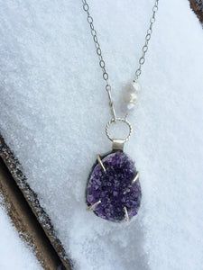 At Peace ~ Amethyst Druzy Necklace