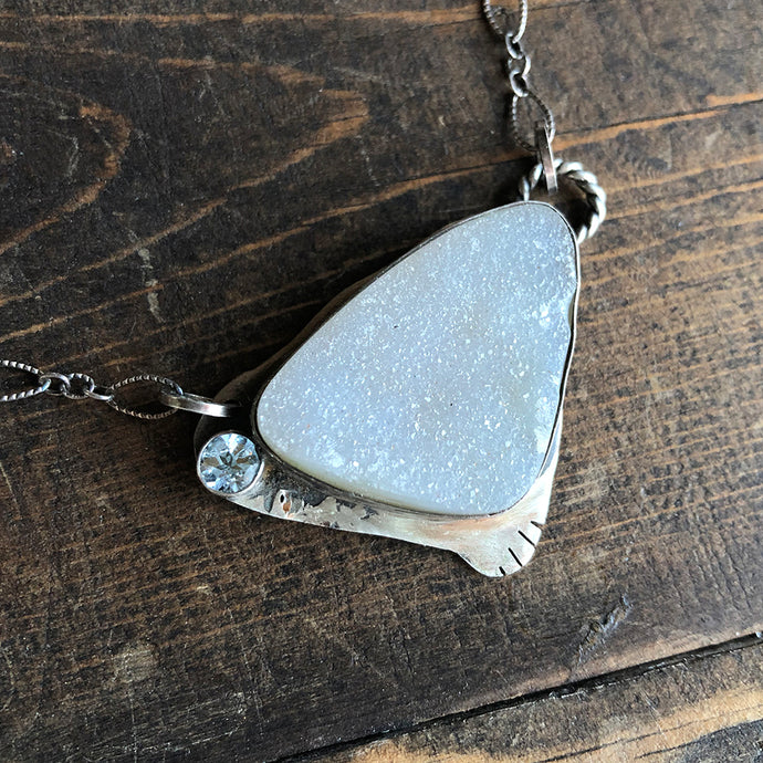 Song on the Wind Druzy Agate Necklace