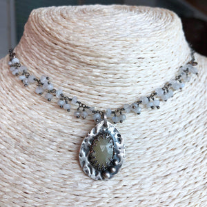Fall in Love ~ White Sapphire Necklace