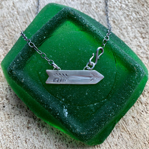 Stamped Arrow Necklace
