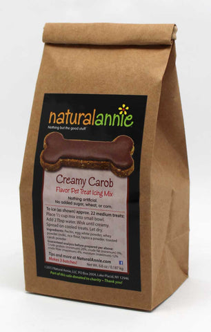 Creamy Carob Pet Treat Icing Mix